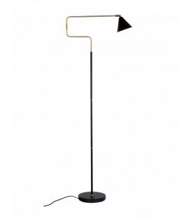 Lampadaire orientable SEATTLE métal noir et Laiton brossé - Red cartel