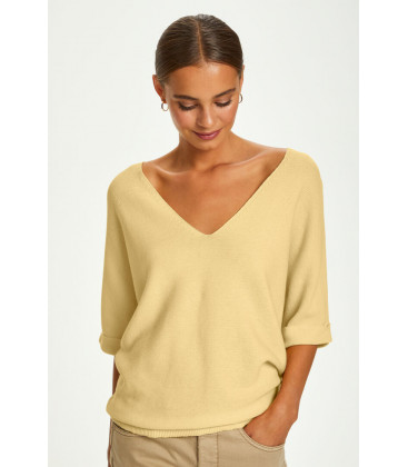 CRSillar SS Knit Pullover - Pale Yellow Delight