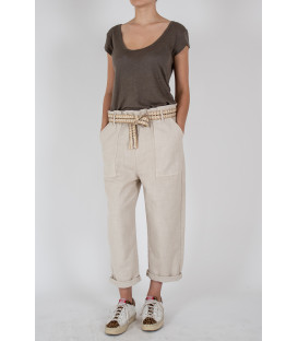 YAEL CANVA Pantalon - Avoine