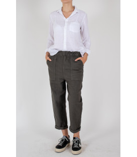 YAEL CANVA Pantalon - Carbone
