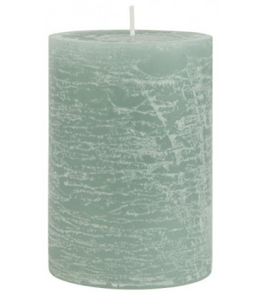 Rustic candle green Ø:7 H:10 - IB LAURSEN