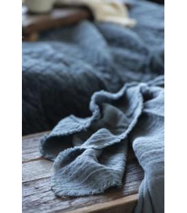 Nappe double gaze de coton HISTORICAL BLUE - IB LAURSEN