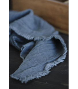 Serviette double gaze de coton HISTORICAL BLUE - IB LAURSEN