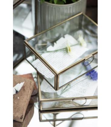Boîte en verre et laiton L: 13,8 H: 7 L: 18,5 - IB LAURSEN