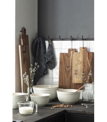 Planche à découper rectangulaire en bois d'acacia huilé et lien cuir - IB LAURSEN