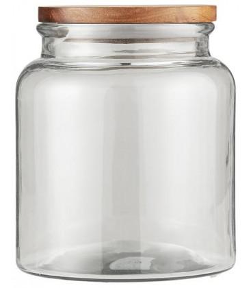 Bocal en verre couvercle bois 2350 ml - IB LAURSEN