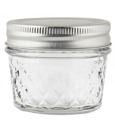 Bocal en verre travaillé couvercle métal 75 ml - IB LAURSEN