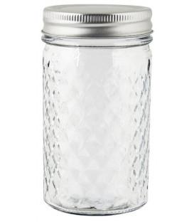 Bocal en verre travaillé couvercle métal 300ml - IB LAURSEN