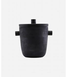 Seau à Glace Noir H 22 cm Diam 20 cm- MERAKI