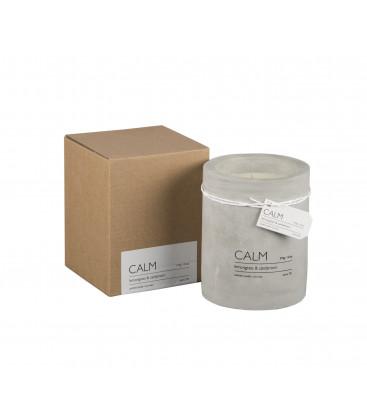 CALM Bougie parfumée Ø6xH7 cm - Citronelle - AFFARI