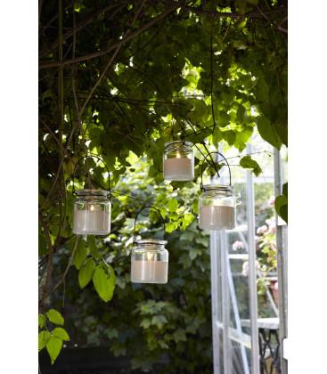 ICON Lanterne suspendue Clair/blanc - AFFARI