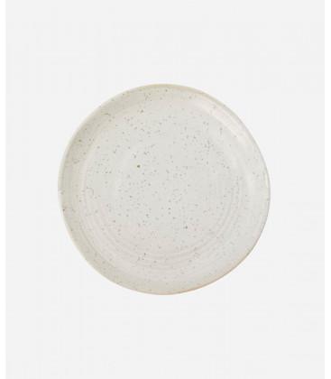 Assiette à Dessert PION GRISE/BLANCHE - Diam 16,5 cm - HOUSE DOCTOR