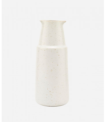 Bouteille PION GRISE/BLANCHE - H. 18 cm - HOUSE DOCTOR