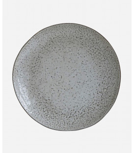 Assiette RUSTIC GRISE/BLEU - Diam 27,5 cm - HOUSE DOCTOR