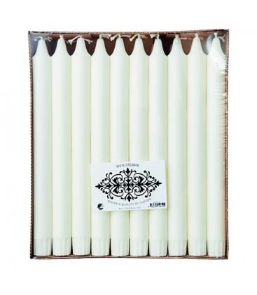 WHITE CANDLES Bougie Ø2,2xH25 cm boîte de 30 - AFFARI