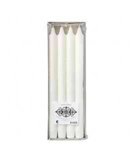 Bougie WHITE Ø2,2xH28 cm Boîte de 8 - AFFARI