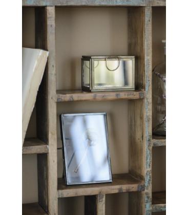 Boîte en verre bord laiton et couvercle martelé - IB LAURSEN