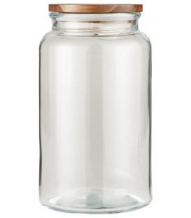 Bocal en verre couvercle bois 3750 ml - IB LAURSEN