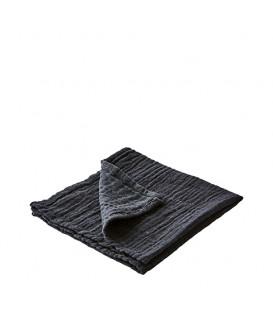 ELSA Serviette de table en coton couleur Noir - AFFARI