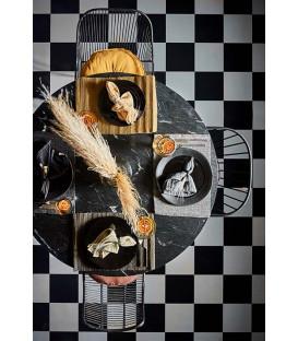 ELSA Serviette de table Noir - AFFARI