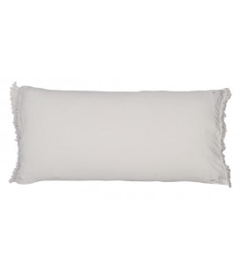 LOVERS FRANGE Coussin 55x110 en lin frangé - Plume - BED AND PHILOSOPHY