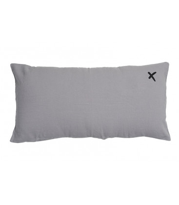 LOVERS X Coussin 55x110 en lin - Orage - BED AND PHILOSOPHY