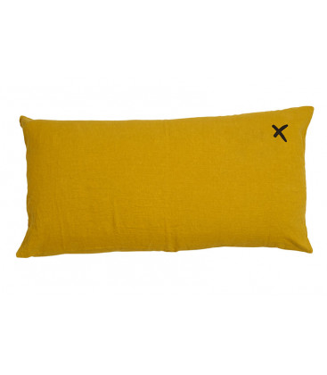 LOVERS X Coussin 55x110 en lin - Curry - BED AND PHILOSOPHY