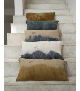 DESERT Coussin en coton 30x60 imprimé deep dye - Fauve