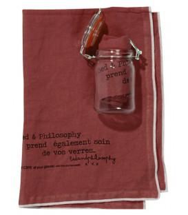 COOK Torchon lin en bocal 45X65 Rosebud - BED AND PHILOSOPHY