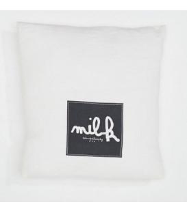MOLLY Coussin 35x35 en lin imprimé - Milk