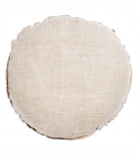 BEN Coussin rond diam. 63cm en lin changeant - Ficelle - BED AND PHILOSOPHY