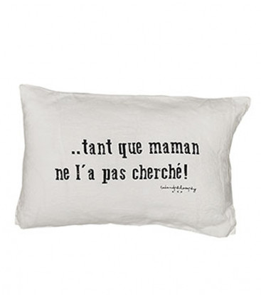 SWITCH maman lot de 2 coussins 25X40 MILK - BED AND PHILOSOPHY