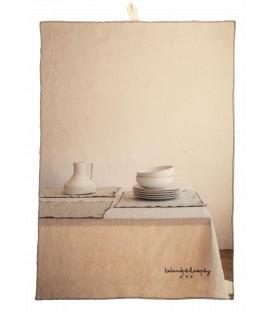 CHEF Torchon Printe coton 40X65 Pots blancs - BED AND PHILOSOPHY