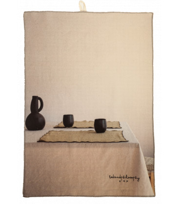 CHEF Torchon Printe coton 40X65 Pots noirs - BED AND PHILOSOPHY