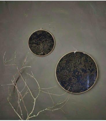 Kiko Oiled Decorative Mirror - Antique Brass - Large 0.5 x 39.5cm (dia) - NKUKU
