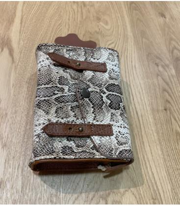 Sac à bandoulière MINI INDISPENSABLE Python molure - PAUL MARIUS
