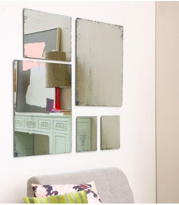 Miroir antique Taille M 40x50 cm - HK LIVING