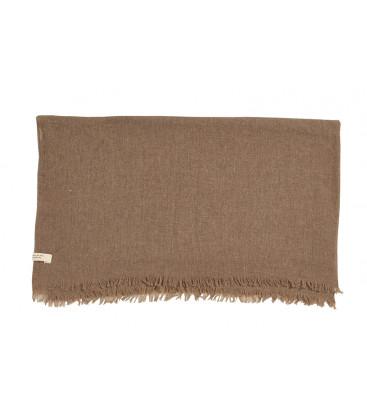 CAMPEUR Plaid ou grande écharpe en laine et cachemire - Havane