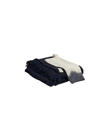 Serviette PHILO invité 30x45 en gaze de coton Deep dye - BED AND PHILOSOPHY