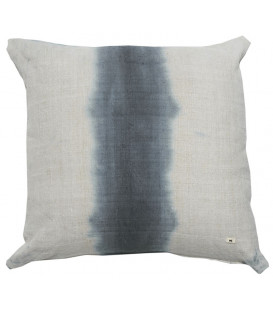 MARIUS Coussin deep dye 65x65 en lin Deep Blue - BED AND PHILOSOPHY