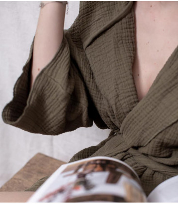 Kimono CRAWL Capuche Taille unique S/M TERRE BRULEE - BED AND PHILOSOPHY
