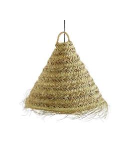 Suspension cônique doum naturel Ø40 x h40 (50 avec franges) - LA MAISON DE LILO