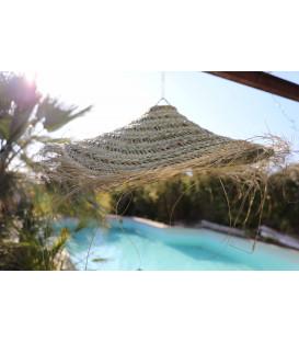 Suspension parasol XL doum naturel Ø100 x h20 - LA MAISON DE LILO