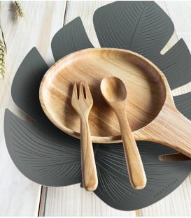 Set de Table Fidji Découpe Feuille XS 38x48 - Vert - PODEVACHE