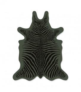 Set de Table Peau Zebra XS 38x48 - Zébré Kaki - PODEVACHE