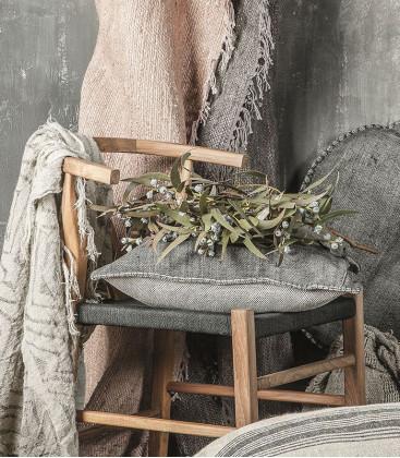 Chaise Naturel et Noir en teck et corde ROB - Dareels