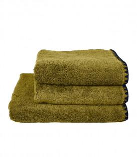 Serviette de Bain Éponge ISSEY couleur Olive - HARMONY