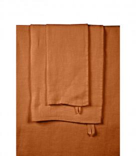 Serviette de Bain Éponge en Lin JAVA couleur Caramel - HARMONY