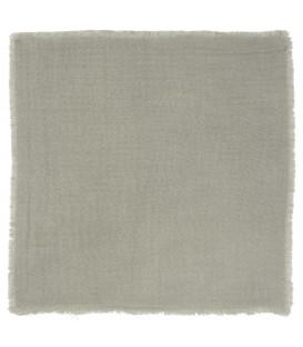 Serviette Frangée en Double Gaze de Coton - Ash Grey - Ib Laursen