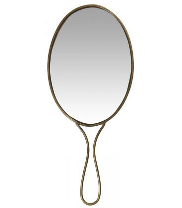 Miroir à Main Oval en Laiton Vieilli - Ib Laursen